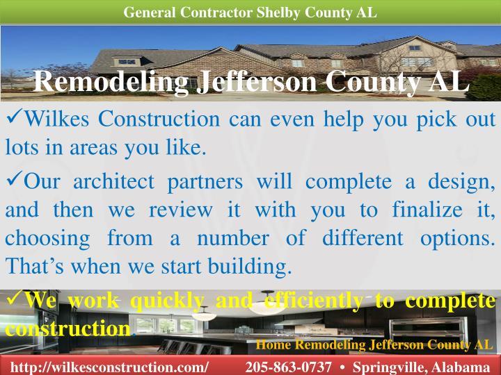 Ppt Custom Home Builder Jefferson County Al Powerpoint