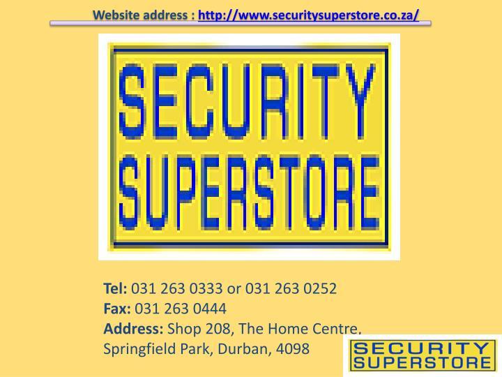 Website address :