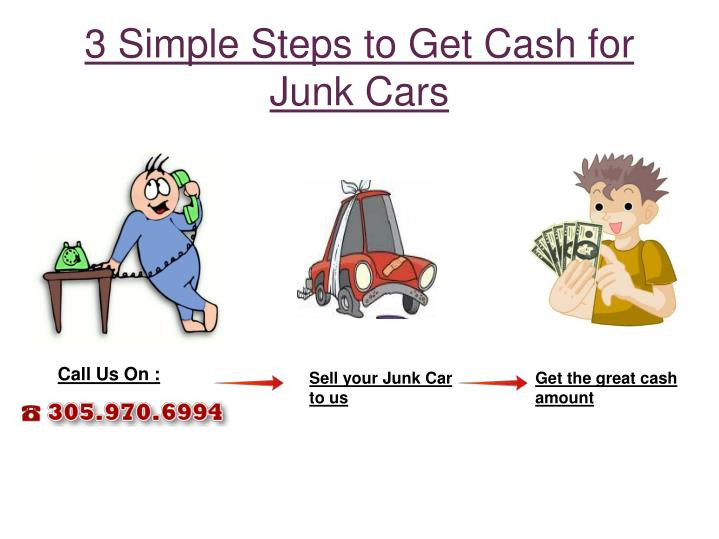 3 Simple Steps to Get Cash for  Junk Cars