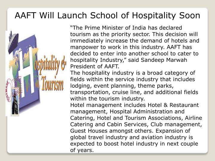 AAFT Will Launch School of Hospitality Soon
