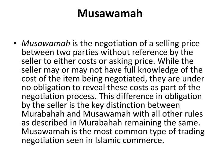Musawamah