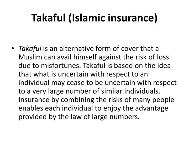 Takaful (Islamic insurance)