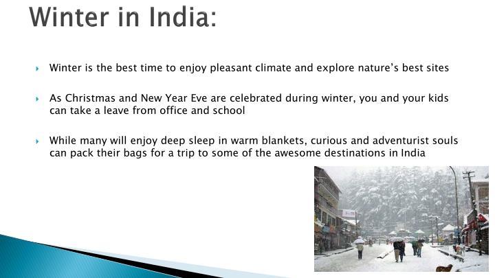 Winter in India: