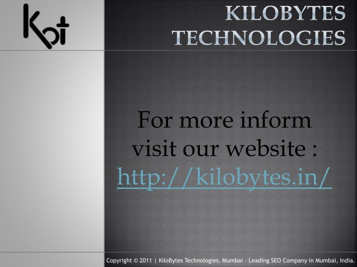 KiloBytes