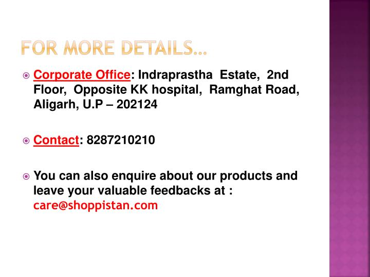 For more details…