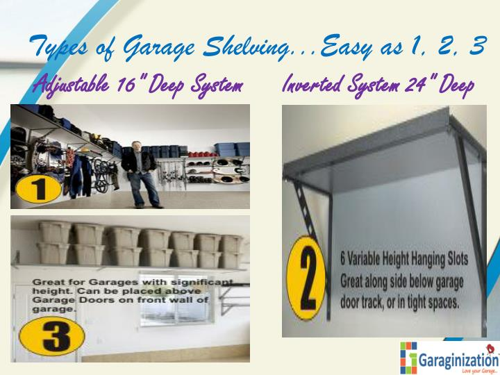 Types of Garage Shelving...Easy as 1, 2, 3