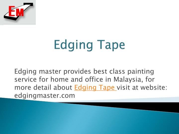 Edging tape