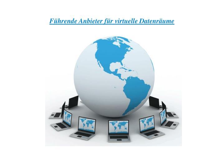 Führende Anbieter für virtuelle Datenräume