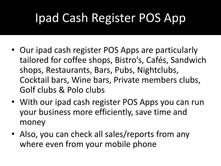 Ipad Cash Register POS App