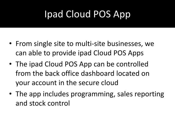 Ipad Cloud POS App