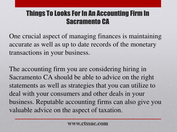 Things to looks for in an accounting firm in sacramento ca2