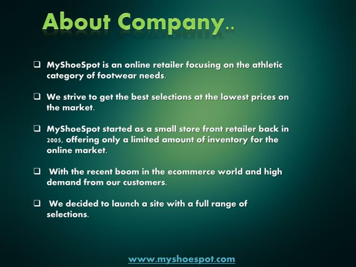 About Company..