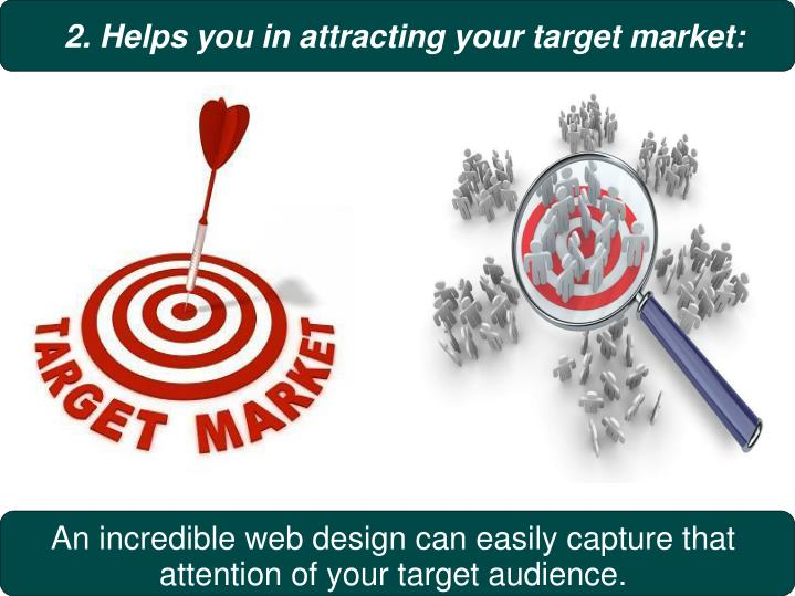 2. Helps you in attracting your target market: