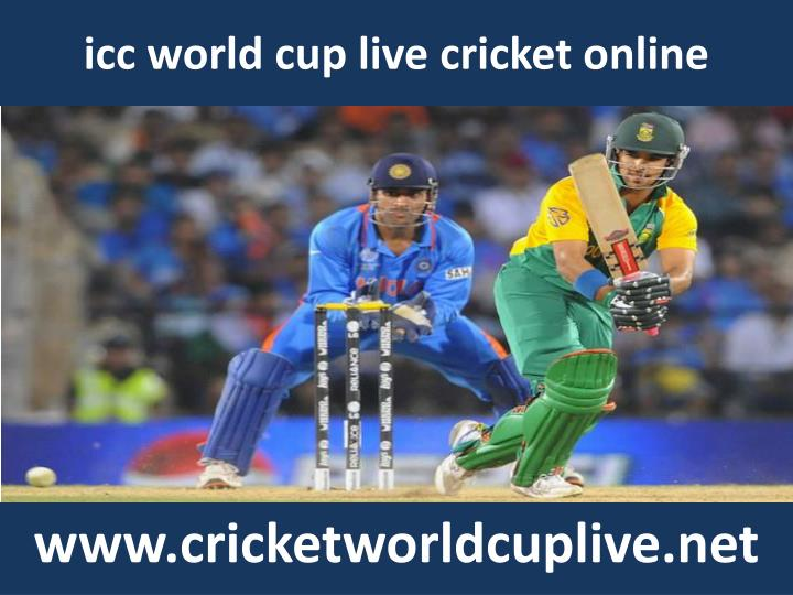 Icc world cup live cricket online
