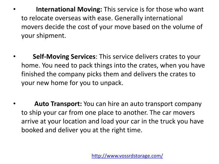 International Moving: