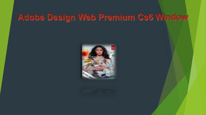 Adobe Design Web Premium Cs6