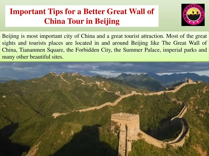 Important Tips for a Better Great Wall of China Tour in Beijing