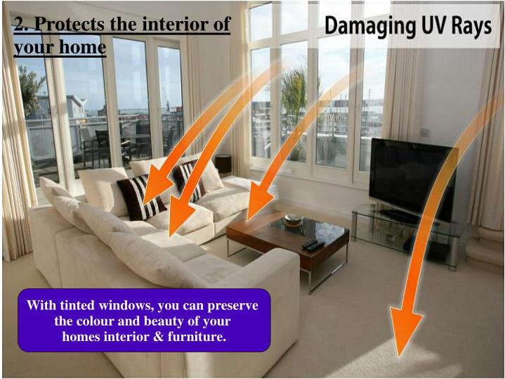 2. Protects the interior of your home