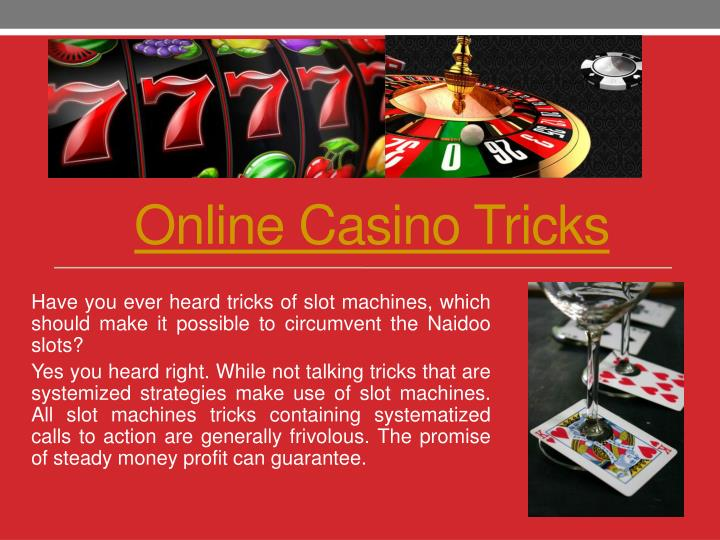 Casino machines tricks crown casino brisbane