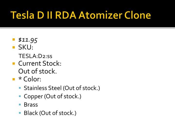 Tesla D II RDA Atomizer