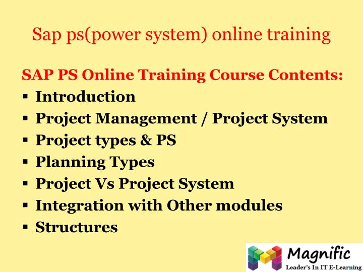 Sap ps power system online training