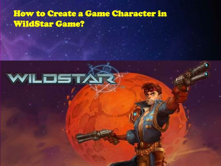how to create a game character