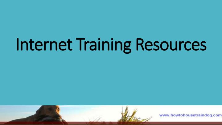 Internet training resources