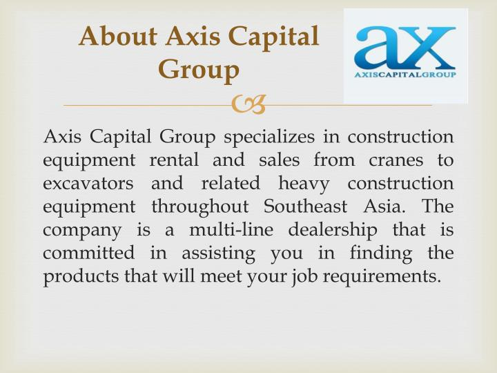 About Axis Capital Group