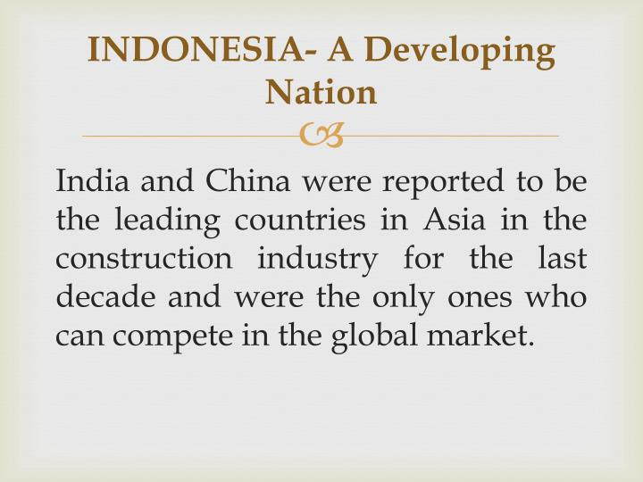Indonesia a developing nation