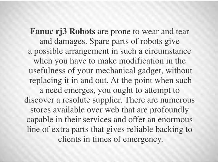Fanuc rj3 Robots