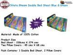 chhota bheem double bed sheet blue green