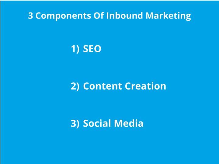 3 Components Of Inbound Marketing