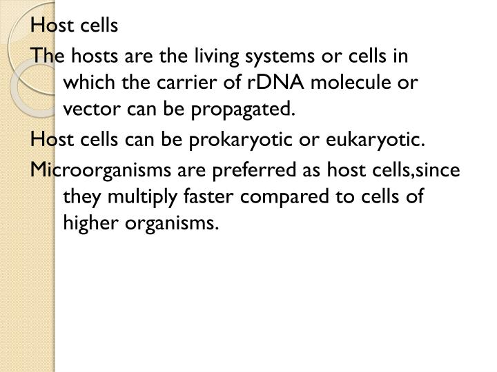 Host cells