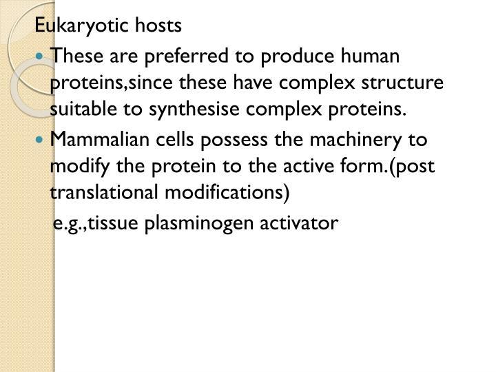 Eukaryotic hosts
