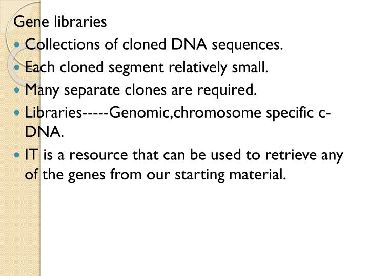 Gene libraries