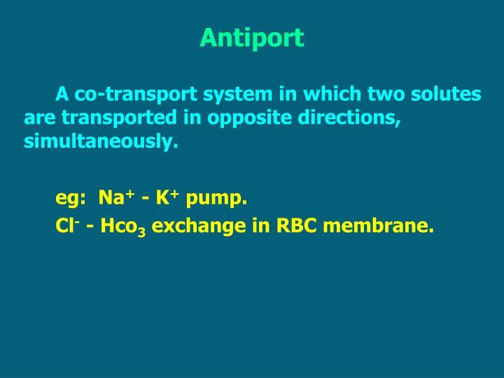 Antiport