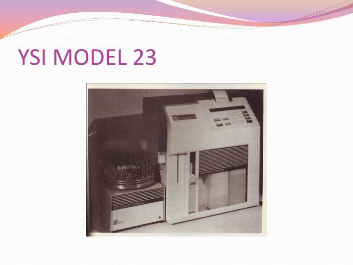 YSI MODEL 23