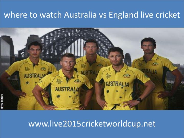 Where to watch Australia