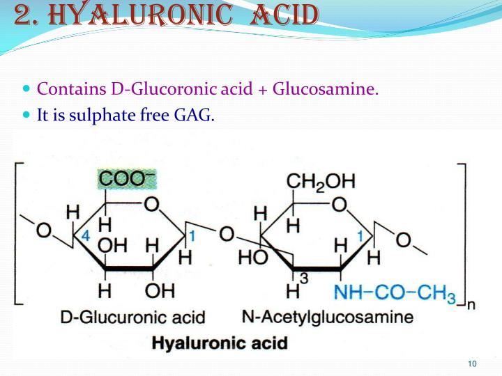 2. Hyaluronic  acid