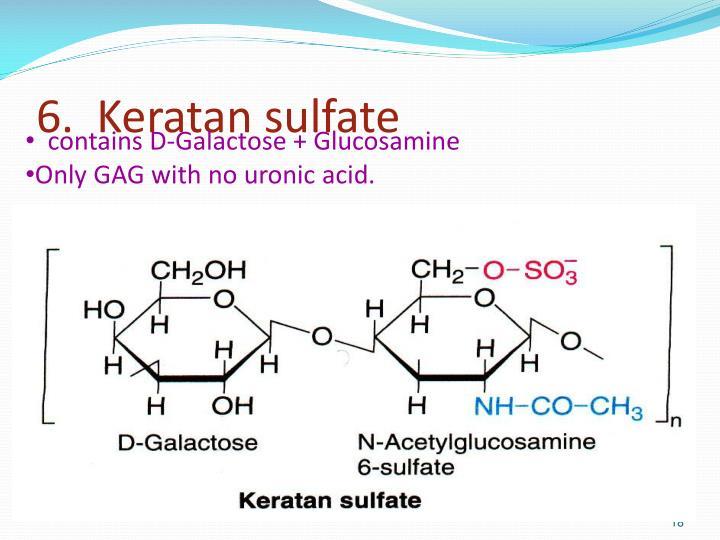 6.  Keratan sulfate