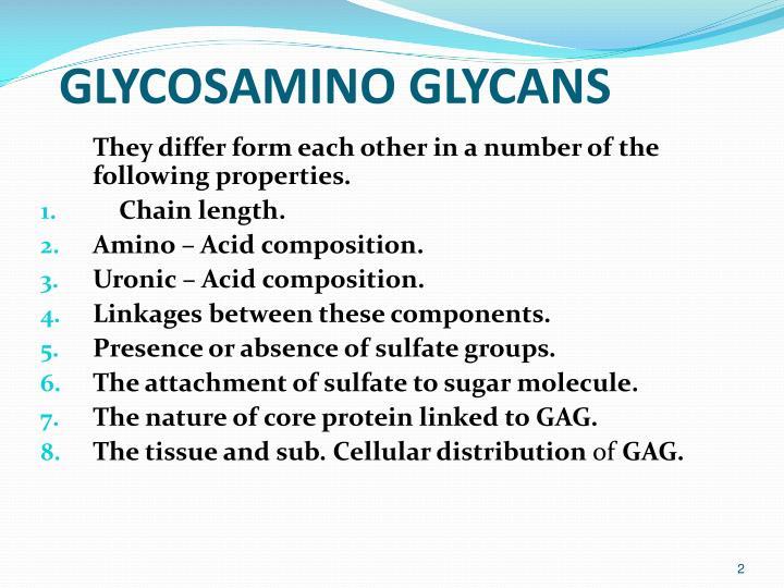 GLYCOSAMINO GLYCANS