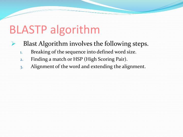 BLASTP algorithm