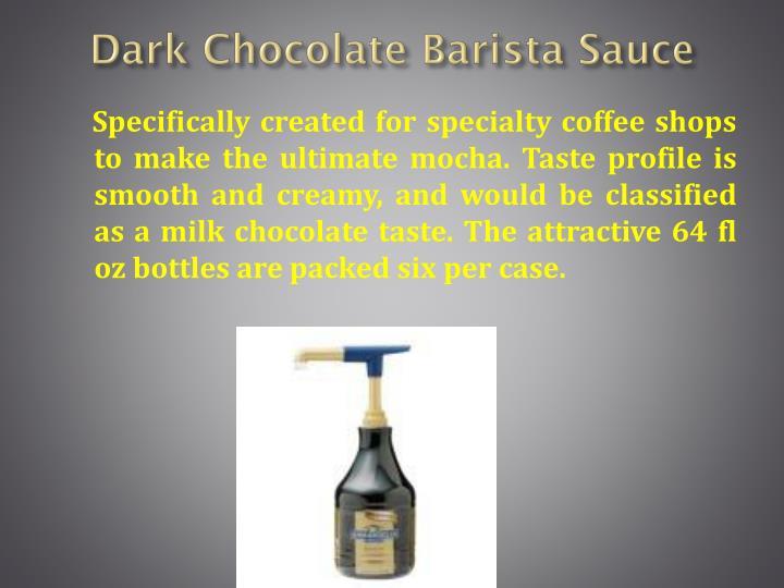 Dark Chocolate Barista Sauce