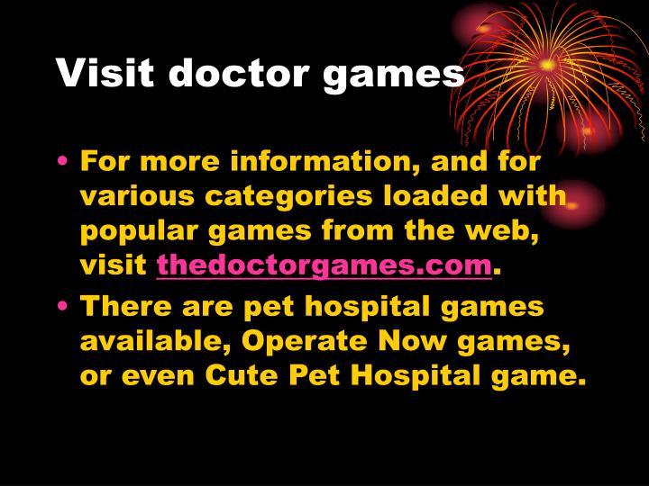Visit doctor games