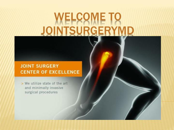 Welcome to jointsurgerymd