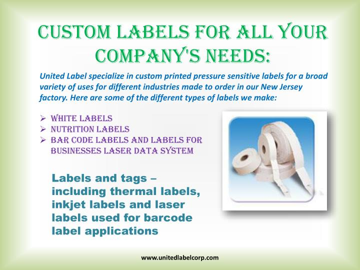 Custom Labels for All Your Company's Needs: