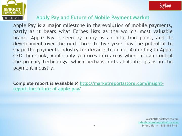 Apply Pay and Future of Mobile Payment Market