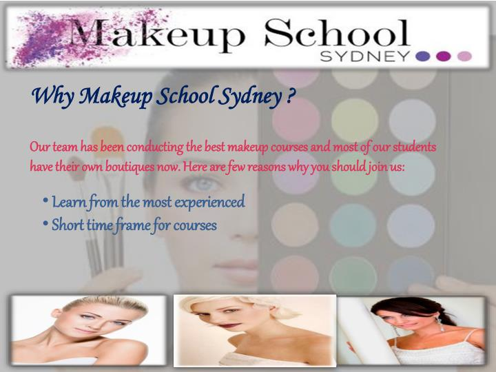 Why Makeup School Sydney ?
