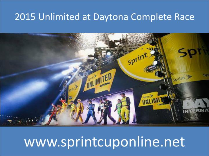 2015 Unlimited at Daytona Complete Race