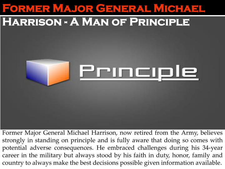 Former Major General Michael
